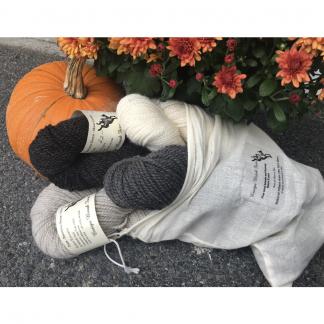 Grey Fine Wool Breeds Yarn Bag from Ensign Brook Farm