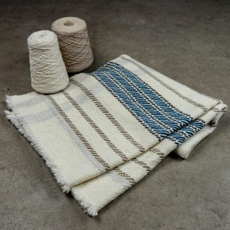 Woven Wool Product with Yarn